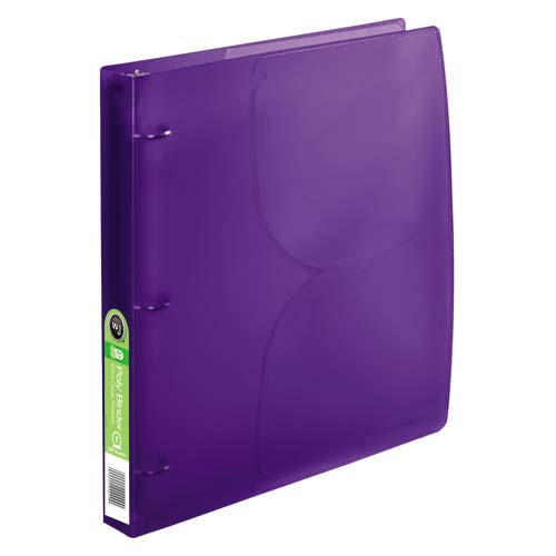 "Wilson Jones 1"" Purple Translucent Poly Binders 10pk (A7040756A)"
