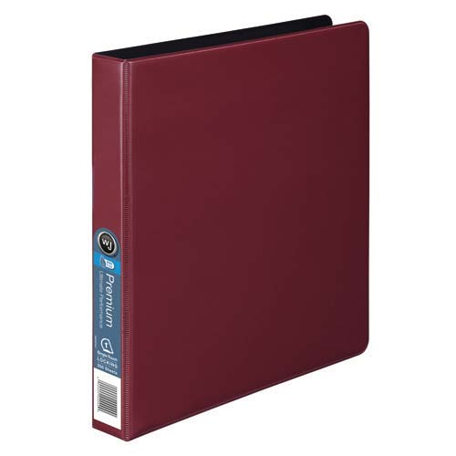"Wilson Jones 1"" Red Premium Opaque D-Ring Binders 12pk - PP (W87602) Image 1"
