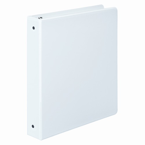 "Wilson Jones 1"" Vinyl White Basic Round Ring View Binders 12pk - PP (W7036267), Wilson Jones brand Image 1"