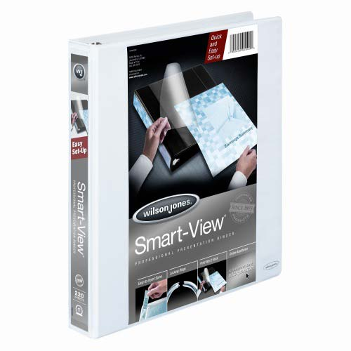 "Wilson Jones 1"" White Smart-View Vinyl Binders 6pk (W36610) Image 1"