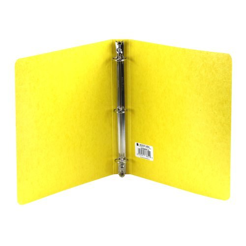 "Wilson Jones 1"" Yellow PRESSTEX Ring Binders 20pk (A7038610-C) Image 1"