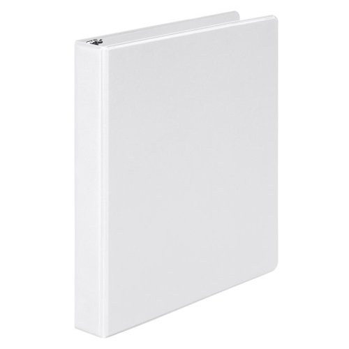 "Wilson Jones 1"" White Basic Opaque Round Ring Binders 12pk - PP (W368-14NW), Wilson Jones brand Image 1"