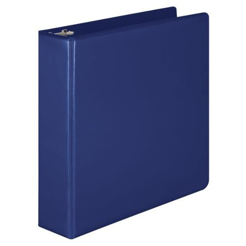 "Wilson Jones 2"" Blue Basic Round Ring View Binders 12pk (W362-44BLPP) Image 1"