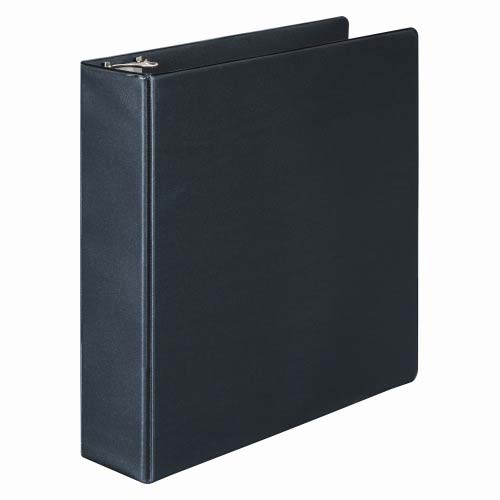 "Wilson Jones 2"" Black Basic Opaque D-Ring Binders 8pk - PP (W383-44B) Image 1"