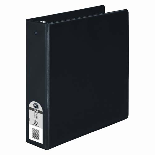 "Wilson Jones 2"" Black Basic Opaque Round Ring Binders 12pk - PP (W368-44NB), Wilson Jones brand Image 1"