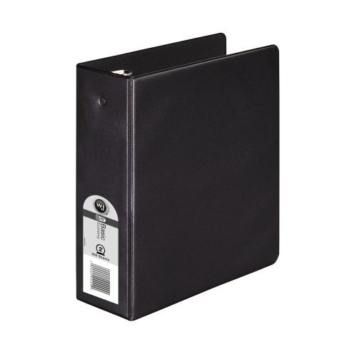 "Wilson Jones 2"" Black Half Size Basic Opaque Round Ring Binders 6pk - F (W79681) Image 1"