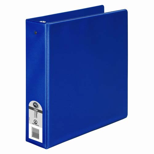 "Wilson Jones 2"" Blue Basic Opaque Round Ring Binder 12pk - PP (W368-44NBL) Image 1"