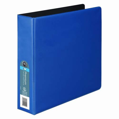 "Wilson Jones 2"" Blue Premium Opaque D-Ring Binders 6pk - PP (W87607) Image 1"