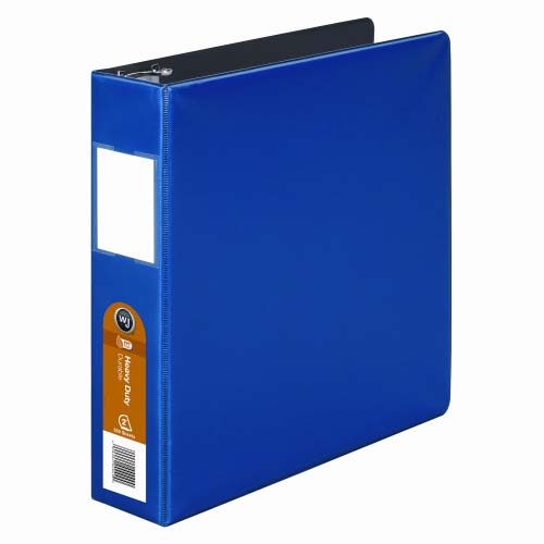 "Wilson Jones 2"" Dark Blue Heavy Duty Opaque D-Ring Binders 6pk - PP (W384-44BL) Image 1"