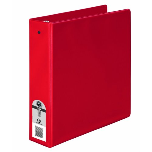 "Wilson Jones 2"" Red Basic Opaque Round Ring Binders 12pk - PP (W368-44NR), Wilson Jones brand Image 1"