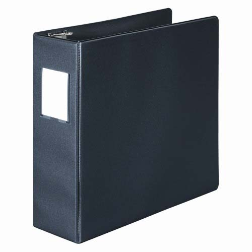 "Wilson Jones 3"" Black Basic D-Ring Binders With Label Holders 8pk - PP (W383-49NHB) Image 1"