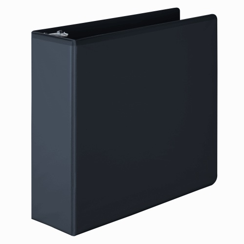 "Wilson Jones 3"" Black Basic D-Ring View Binders 6pk - W386-49BPP (W386-49BA) Image 1"