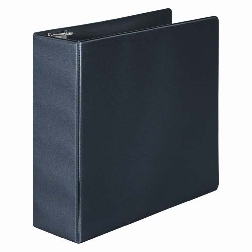 "Wilson Jones 3"" Black Basic Opaque D-Ring Binders 8pk - PP (W383-49B) Image 1"