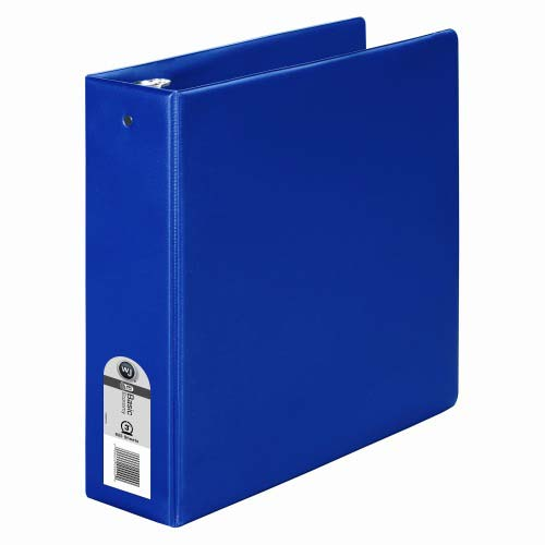 "Wilson Jones 3"" Blue Basic Opaque Round Ring Binder 12pk - PP (W368-49NBL) Image 1"
