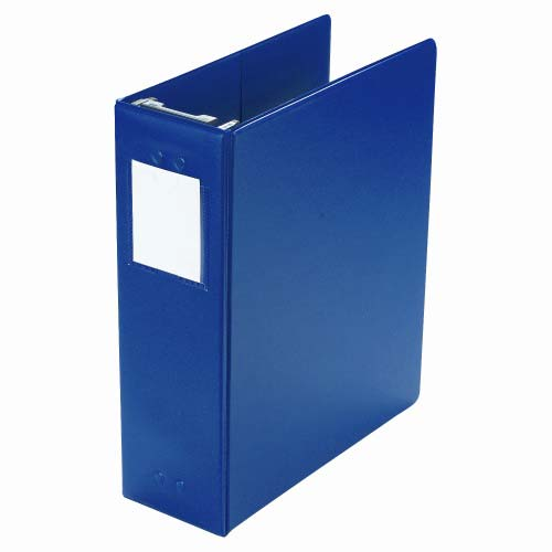 "Wilson Jones 3"" Blue Large Capacity Vinyl Binders 2pk (W365-49BL) Image 1"