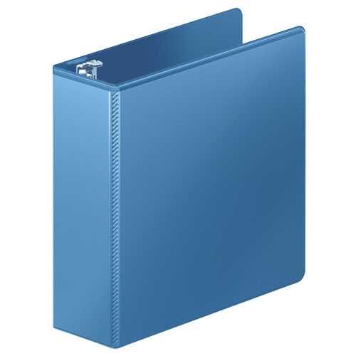 "Wilson Jones 3"" PC Blue Heavy Duty Round Ring View Binder 8pk (W363-49-7462PP) Image 1"