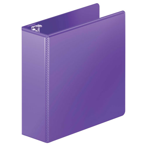 "Wilson Jones 3"" Purple Heavy Duty Round Ring View Binder 8pk (W363-49-267PP) Image 1"