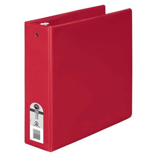 "Wilson Jones 3"" Red Basic Opaque Round Ring Binders 12pk - PP (W368-49NR) Image 1"