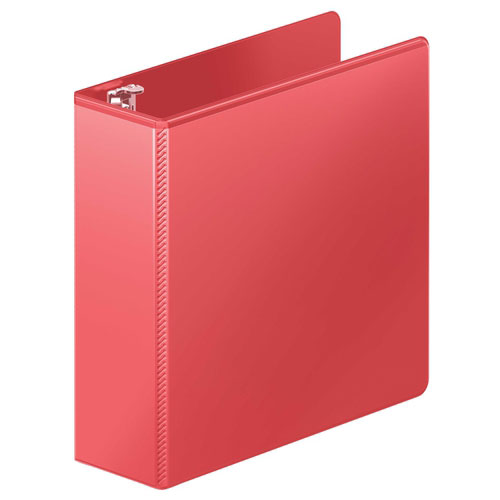 "Wilson Jones 3"" Red Heavy Duty Round Ring View Binder 8pk (W363-49-1797PP) Image 1"