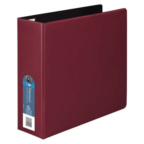 "Wilson Jones 3"" Red Premium Opaque D-Ring Binders 6pk - PP (W87611) Image 1"