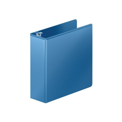 "Wilson Jones 3"" PC Blue Heavy Duty D-Ring View Binder 8pk (W385-49-7462PP), Ring Binders Image 1"