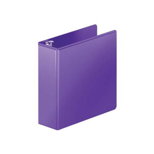 "Wilson Jones 3"" Purple Heavy Duty D-Ring View Binder 8pk (W385-49-267PP), Ring Binders Image 1"