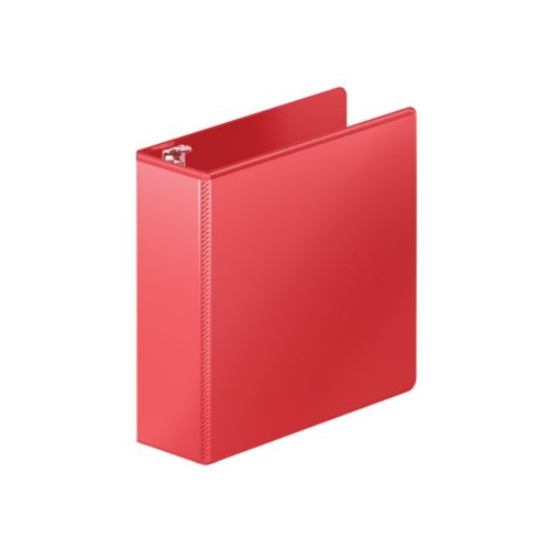 "Wilson Jones 3"" Red Heavy Duty D-Ring View Binder 6pk (W385-49-1797PP1) Image 1"