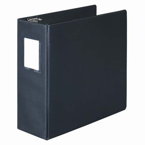 "Wilson Jones 4"" Black Basic D-Ring Binders With Label Holders 8pk - PP (W383-54NHB) Image 1"