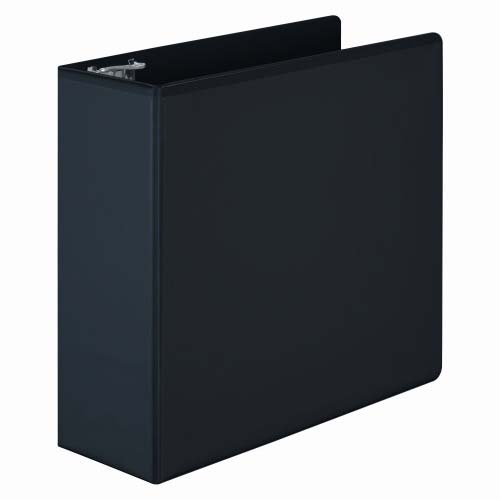 "Wilson Jones 4"" Black Basic D-Ring View Binders 6pk - W386-54BPP (W386-54BA) Image 1"