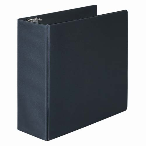 "Wilson Jones 4"" Black Basic Opaque D-Ring Binders 6pk - PP (W383-54B) Image 1"