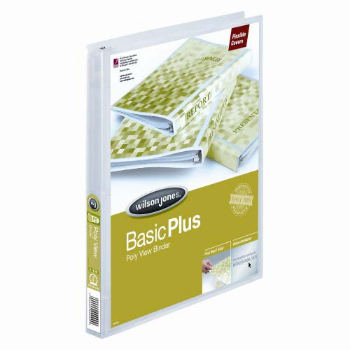 "Wilson Jones 5/8"" Clear Non-Stick Flexible Binders 12pk (A7043336DA) Image 1"