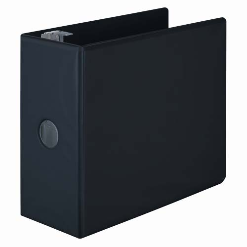 "Wilson Jones 5"" Black Basic D-Ring View Binders 2pk - W386-50BPP (W386-50BA), Wilson Jones brand Image 1"