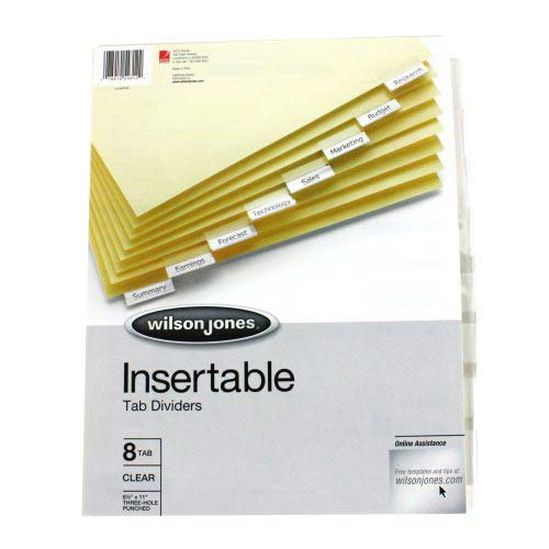 Insertable Index Dividers