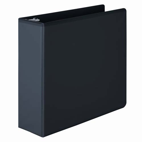 Wilson Jones Black Basic Round Ring View Binders (WJBRRVBBK), Wilson Jones brand Image 1