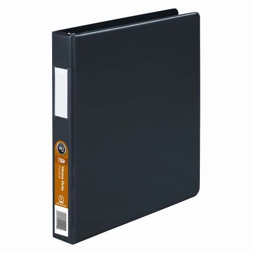 Wilson Jones Black Heavy Duty Opaque Round Binders (WJHDORRBBK), Wilson Jones brand Image 1