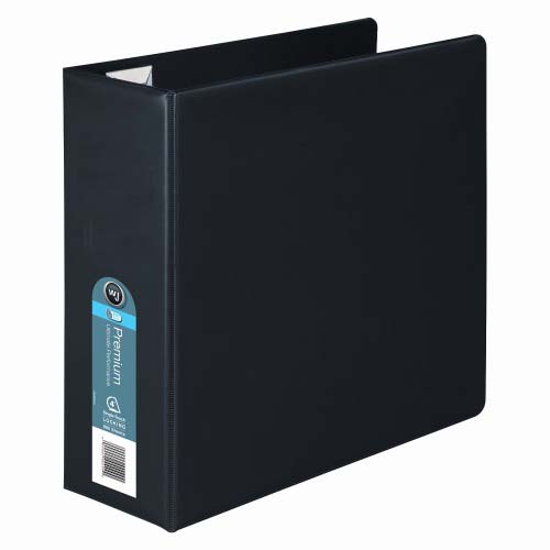 Wilson Jones Black Premium Opaque D-Ring Binders (WJPODRBBK) Image 1