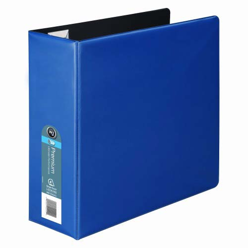 Wilson Jones Blue Premium Opaque D-Ring Binders (WJPODRBBL) Image 1