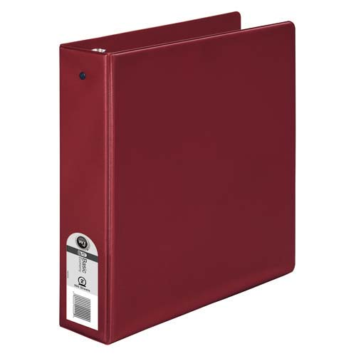Wilson Jones Burgundy Basic Opaque Round Ring Binders - 12pk (WJBORRBBG) - $31.2 Image 1