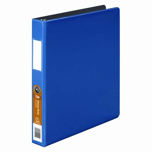Wilson Jones Dark Blue Heavy Duty Opaque D-Ring Binders (WJHDODRBDBL) Image 1