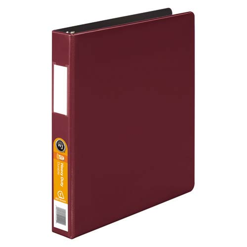 Wilson Jones Dark Red Heavy Duty Opaque D-Ring Binders (WJHDODRBDRD) Image 1