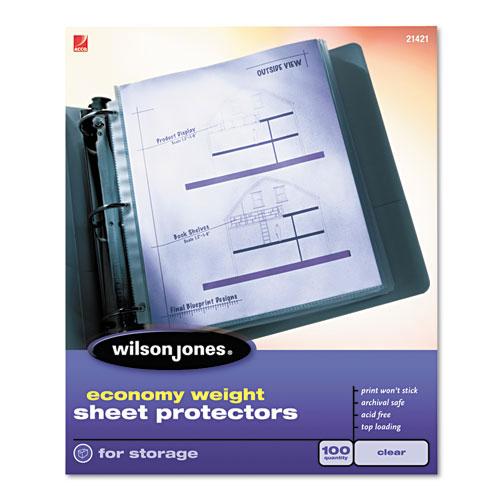 Wilson Jones Economy Semi-Clear Sheet Protectors (WJESPSCL), Wilson Jones brand Image 1