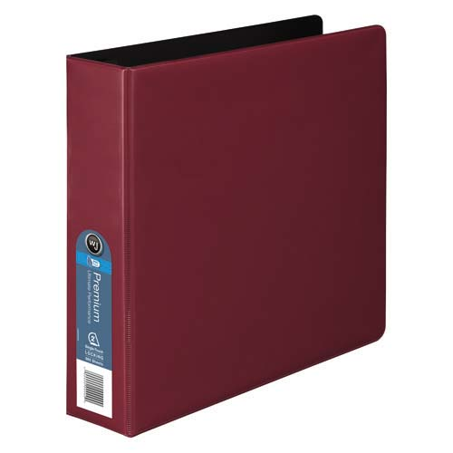 Wilson Jones Red Premium Opaque D-Ring Binders (WJPODRBRD) Image 1