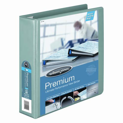 Wilson Jones Seafoam Premium Single-Touch Binders (WJPSTBSF)