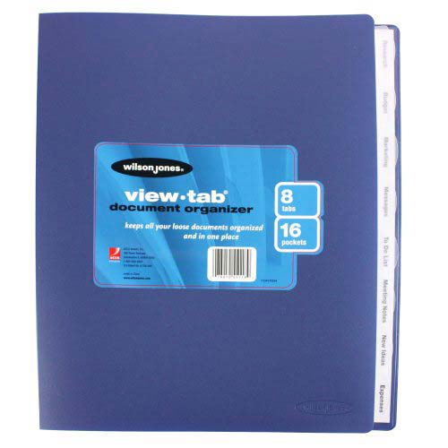 Wilson Jones View-Tab 8 Tab Document Organizers (W55118A) Image 1