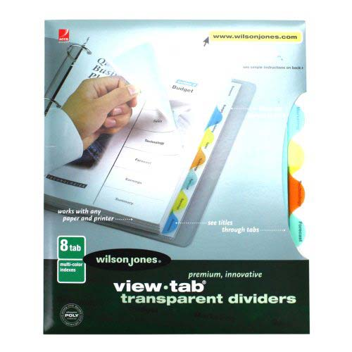 Wilson Jones View-Tab 8 Tab Round Multicolor Dividers (W55063) Image 1