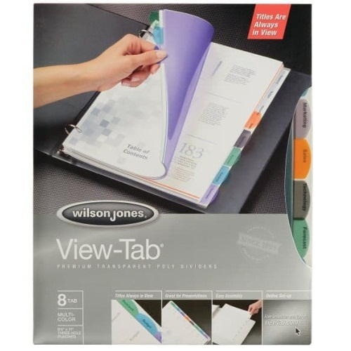 Wilson Jones View-Tab 8 Tab Transparent Dividers (W16304) - $3.3 Image 1
