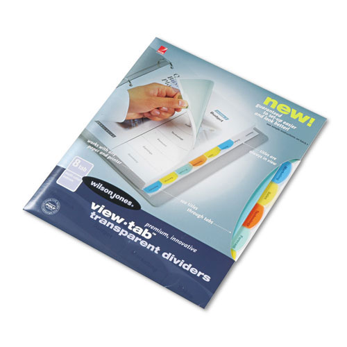 Wilson Jones View-Tab 8 Tab Transparent Dividers (W55067) Image 1