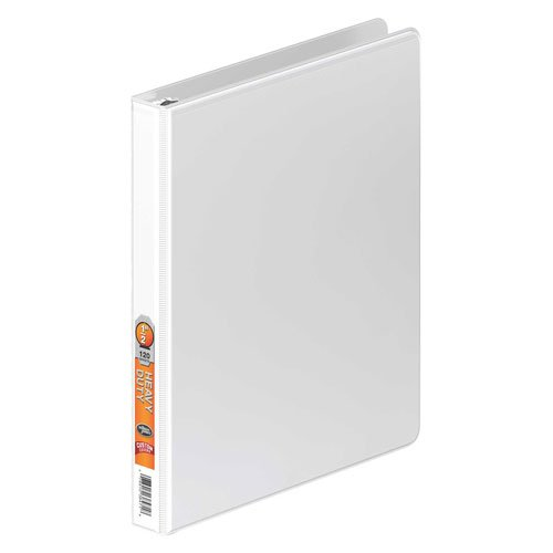 Wilson Jones White Heavy Duty Round Ring View Binders (WJHDRRVBWH), Wilson Jones brand Image 1