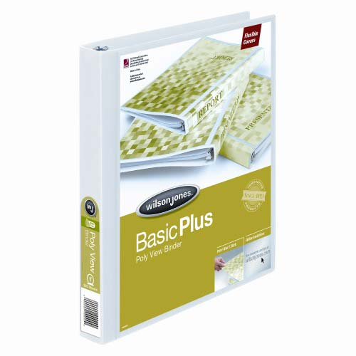 Wilson Jones White Non-Stick Flexible Binders - 12pk (WJNSFBWH), Wilson Jones brand Image 1
