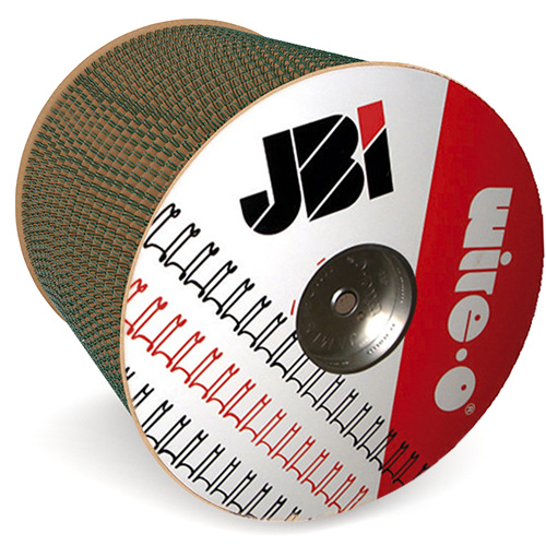 "James Burn Wire-O 3/8"" Green 3:1 Pitch Double Loop Ring Wire Spool (46000 Loops) (91JB38SPLGRN) Image 1"